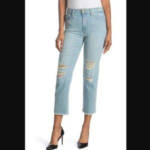 Joe's Jeans Distressed High Rise Cropped Jeans 31